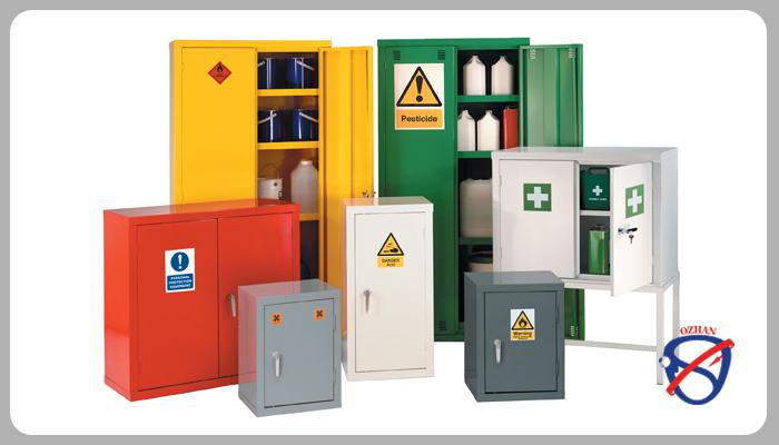 قفسه بندی انبار مواد شیمیایی